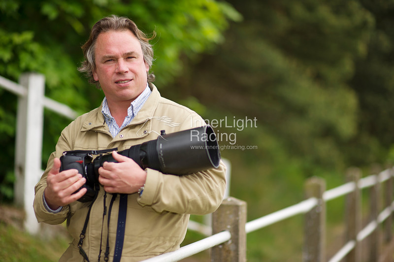 Racing Post Photographer, Edward Whitaker pictured at Chester Races, May Festival, Ladies Day, 2011