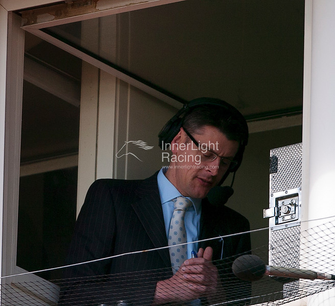 Chester Races May Festival Day 3 Boodles City' Day11th May 2012. Stewart Machin, course commentator