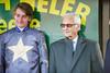 """The Joseph Heler Cheese, Lester Piggott """"Start to Finish"""" Handicap Stakes (Class 2) Lester Piggott and Adam Kirby."""