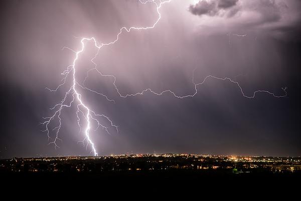 Lightning captured in Westminster, CO