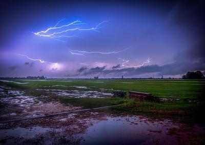 Lightning over the field  (Dayton TX)