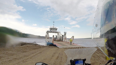 Missed ferry across Mackenzie River, came back to get me