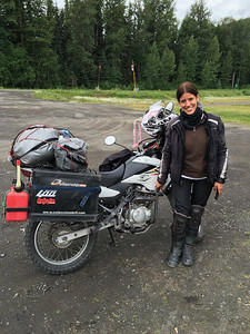Guadalupe, she's from Argentina. Been on the road for 1 1/2 years.