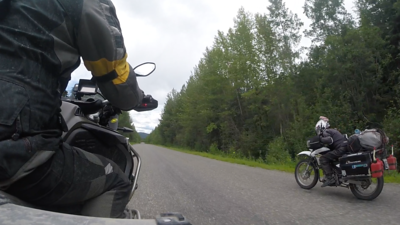 Full tuck to keep up speed (100 km/hr) on 125 cc Yamaha