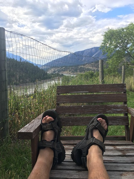 First nite on the road, Lytton BC. By the Fraser River and the CN trains ..... all nite!