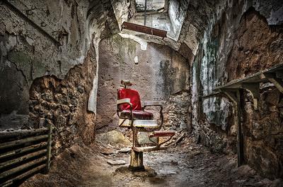 Barbershop at Eastern State Penitentiary