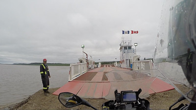 Cable ferry across the Peel River