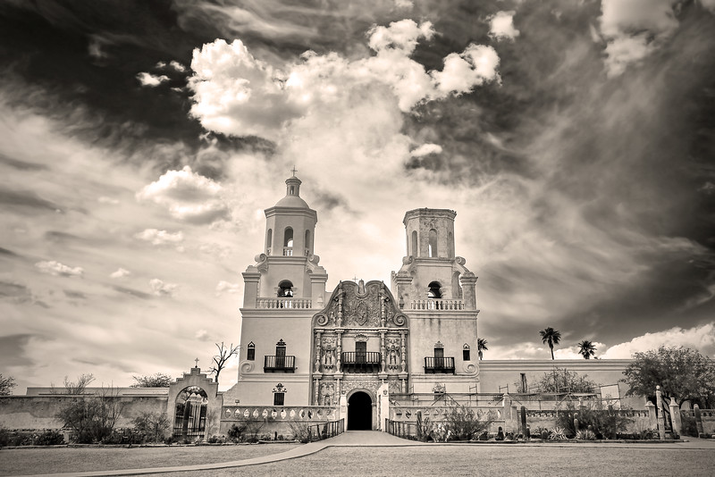 San Xavier del Bac Mission (founded in 1699) - near Tucson, Arizona