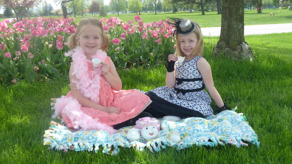 Tea Party in the Tulips JPG, Tea Party in the Tulips
