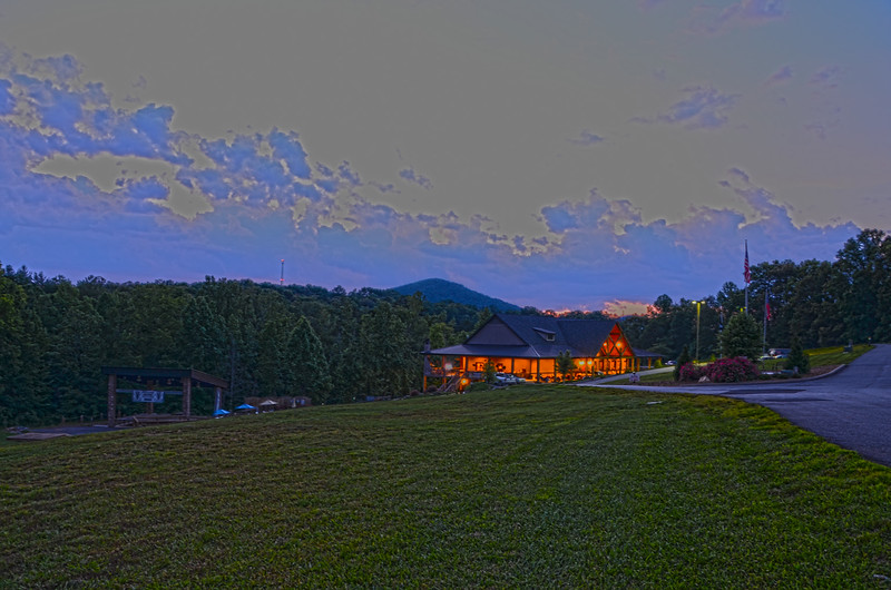 Copperhead Lodge at Dusk, Blairsville GA