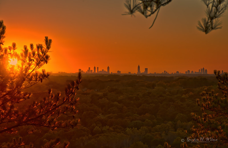 Atlanta Skyline, Stone Mountain Sunset