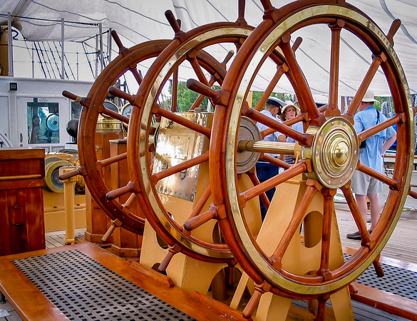 Triple Wheel of a Full-rigged Ship