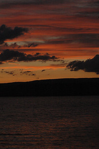 sunset on watts bar lake - taken from Camp John Knox