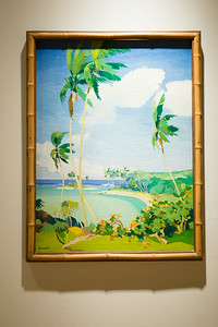 Palm Trees & Shore Line, Florida by Frederic Kirtland Wykes