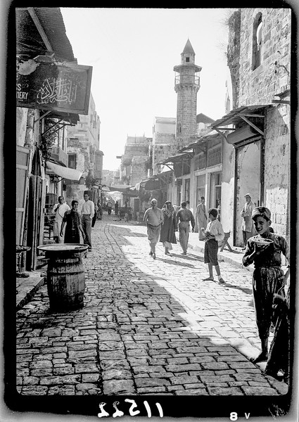 1.  Nablus. The Great Mosque. 1940