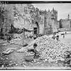 19.  Orange piles at Damascus Gate. 1944