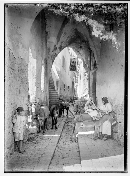27.  Nazareth, old city street. 1898–1946