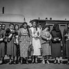 Palestine delegation of Arab ladies leaving Lydda Junction for Cairo. 1938