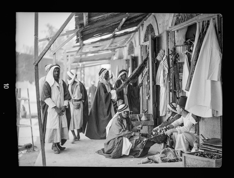 Beersheba and surroundings.  Bedouin bazaar.  1920-1933