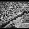 15.  Jerusalem from the air (the Old City). Herod's Gate quarter. 1931