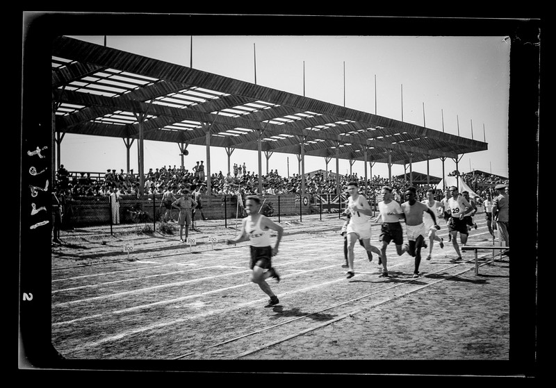 31.  United Services Athletic meeting at Tel Aviv Maccabiah Stadium. 1942