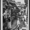 Street in older Nazareth, vegetable market.  1934-1937