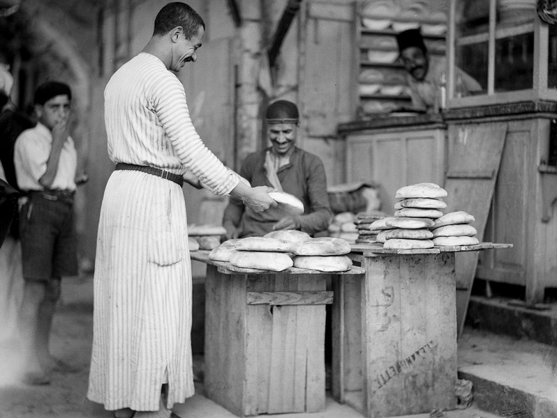 Old City bread seller. 1934-1939