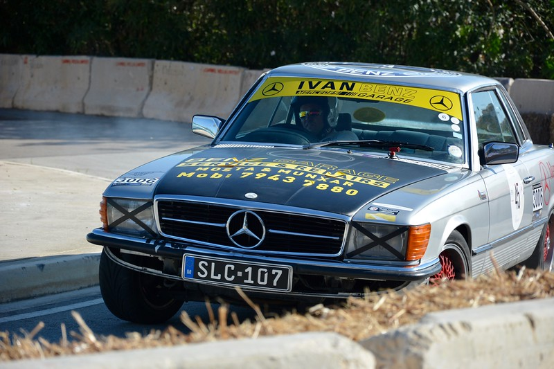 Merc 450 SLC at Malta Classic