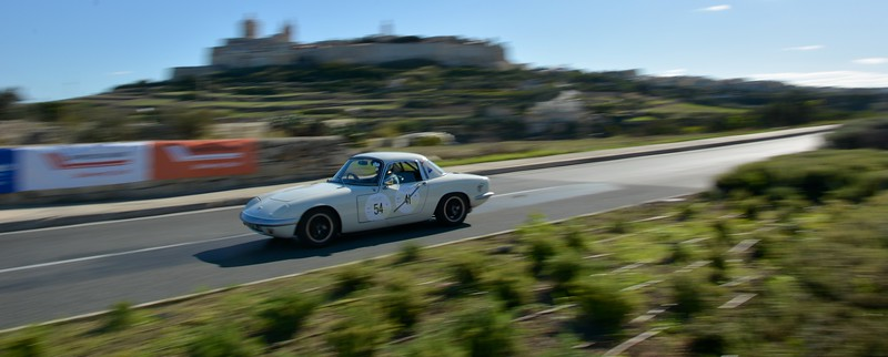 Lotus flying past Mdina at Malta Classic