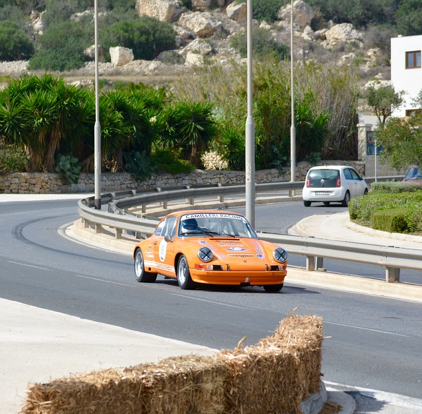 911 racing at Malta Classic whilst Mrs Borg in the other lane sets out for her weekly shop.