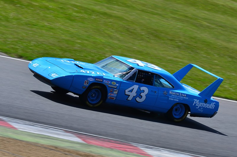 Plymouth Superbird at Brands Hatch