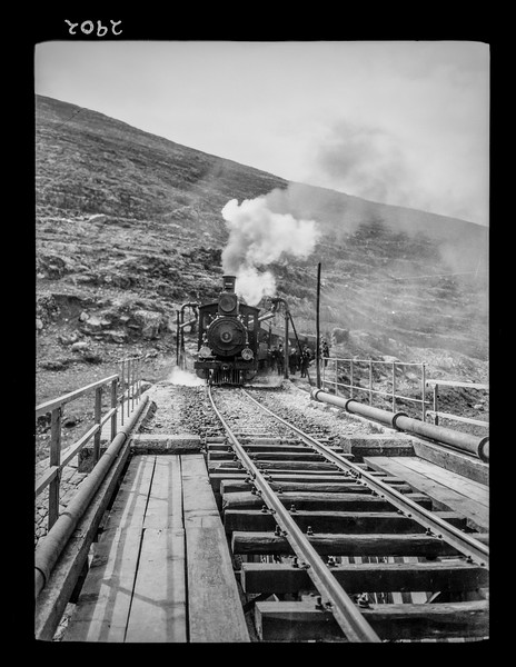 Jaffa to Jerusalem. Train at Battir. Pulling up steep grade.  1920-1937