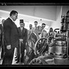 55.  Opening ceremony of the Palestine Electric Corporation's Jordan plant.  H.H. Emir Abdullah starting the turbines. 1933
