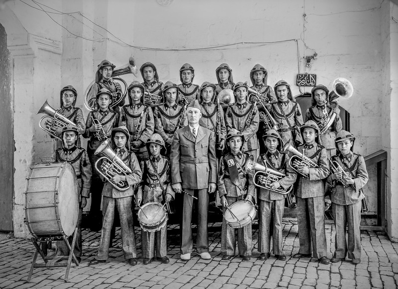Muslim Orphanage Band in old Serai. 1940-1946