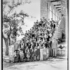 59.  Mr. Oliver's school, Ras-el-Matn.  School group on steps. 1940–1946
