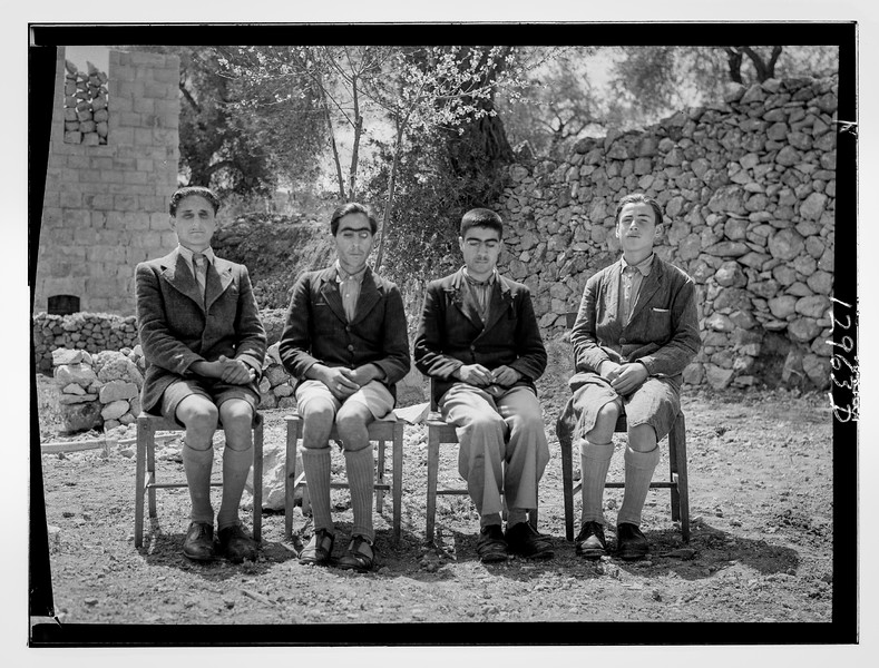 64.  Group pictures of blind school in Hebron. 1940–1946