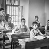 Boys reading braille in blind school in Hebron. 1940