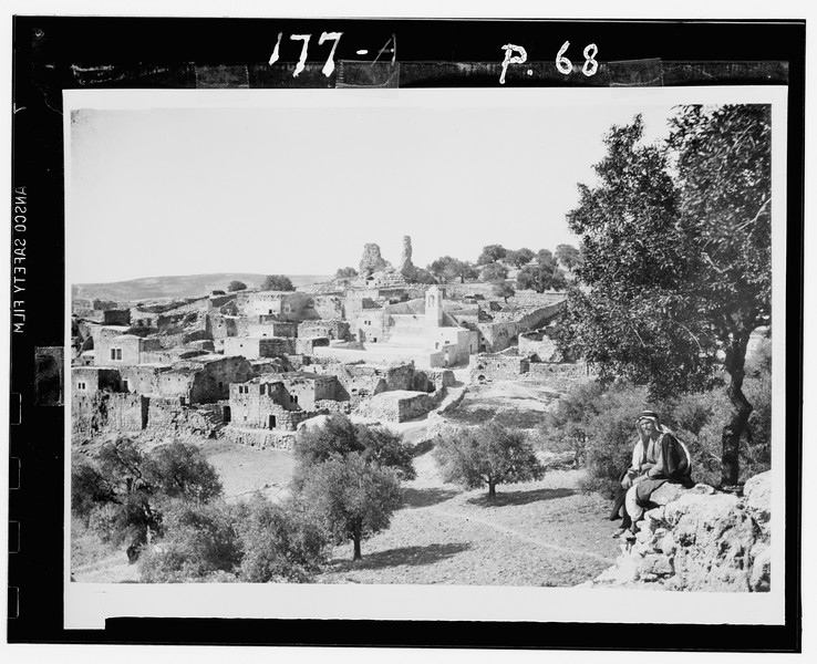 101.  Mount of Olives. Bethany from the Slopes of Olivet. 1900–1920