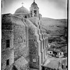 Mar Saba belfry. Early morning silhouette.  1934-1939