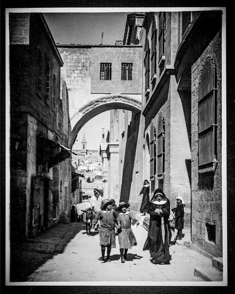 Ecce Homo Arch, Jerusalem. 1898-1934