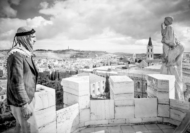 Jerusalem from Tower of Notre Dame de France. 1934-1939