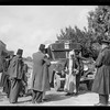 Searching an Arab bus for arms on the Jerusalem-Jaffa road.1938