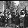 Arab women's delegation demonstrating against British policy outside of the High Commissioner's residency. 1929