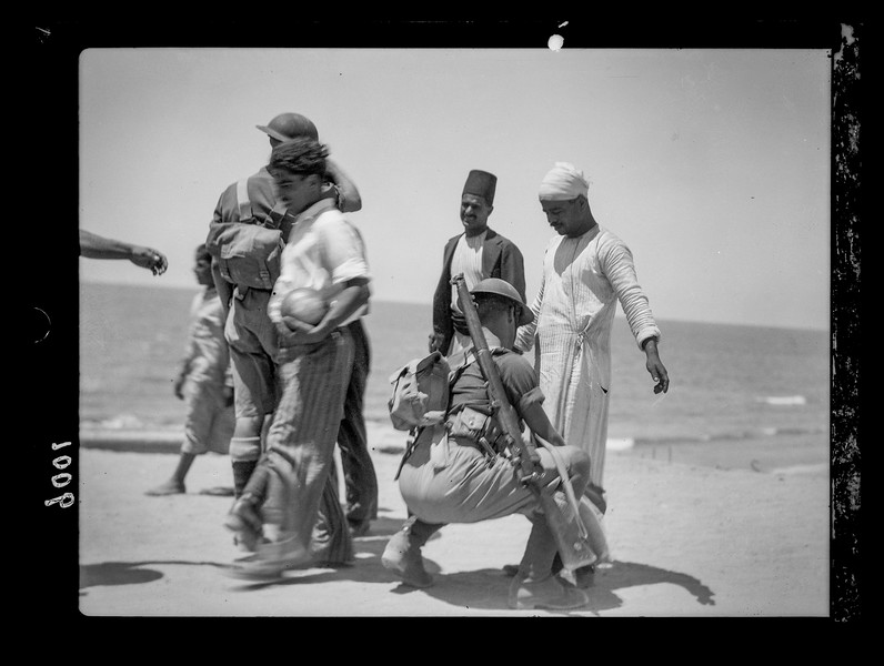 Palestine resistance during summer.  Jaffa.  1936.