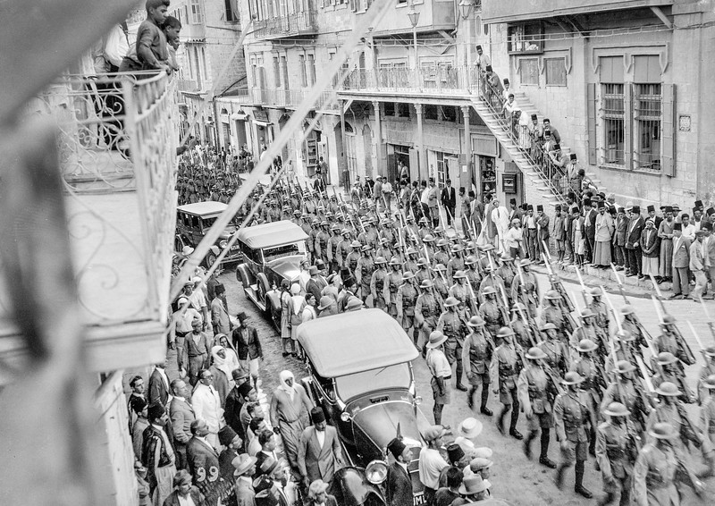124.  Display of British military force in Jerusalem. 1929
