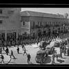 The Australian soldiers parade marching down Jaffa Road.  1940-1946