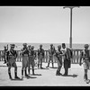 127.  Palestine resistance, Jaffa. Along the sea front. Inhabitants being searched. 1936