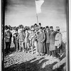 118.  The surrender of Jerusalem to the British, December 9, 1917. The Mayor of Jerusalem, with white flag, offers surrender to two British tommies (sergeants). 1917
