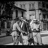 126.  The 1929 riots, August 23 to 31. Arab resident searched for arms at Jaffa Gate following uprisings. 1929