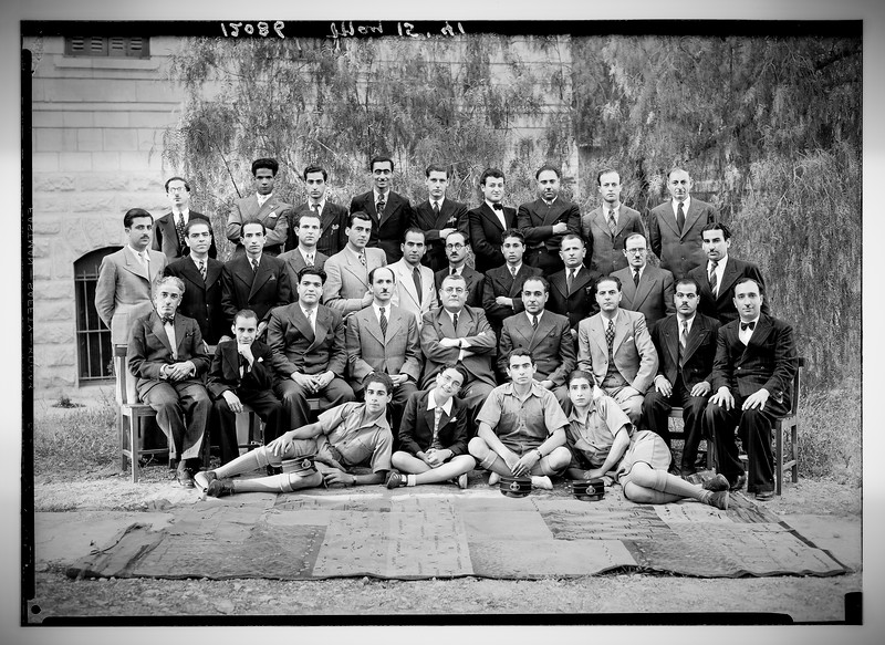 Arab Staff at the Palestine Broadcasting Service. 1941